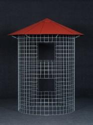 Dřevník malý 4m³ - střecha z hliníkového plechu - červená