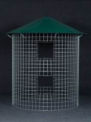 Dreváreň veľká 6 m³ s hliníkovou strechou - zelená