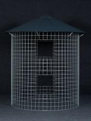 Dreváreň veľká 6 m³ s hliníkovou strechou - čierna