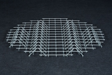 Verzinkter Stahlbodenrost - kleiner Holzschuppen
