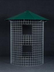 Dřevník malý 4m³ - střecha z hliníkového plechu - zelená