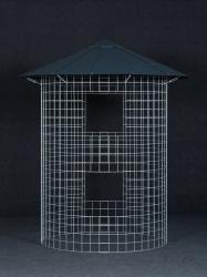 Kleiner Holzschuppen 4m3 mit Aludach - schwarz