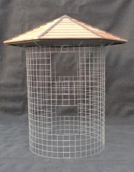 Dřevník malý 4m³ - střecha ze dřeva (de)