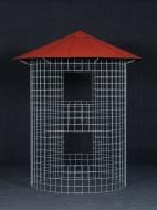 Dreváreň malá 4 m³ s hliníkovou strechou - červená