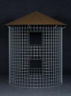 Dřevník velký 6m³  - střecha z hliníkového plechu - hnědá