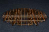 Nichtverzinkter Stahlbodenrost - kleiner Holzschuppen