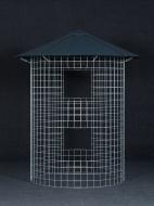 Dreváreň malá 4 m³ s hliníkovou strechou - čierna