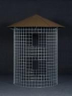 Dreváreň malá 4 m³ s hliníkovou strechou - hnedá