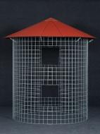 Dřevník velký 6m³  - střecha z hliníkového plechu - červená