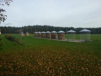 Velký dřevník 6m³ - střecha z pozinkovaného plechu