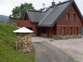 Dřevník malý 4m³ střecha z pozinkovaného plechu