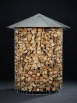 Dřevník malý 4 m³ pozinkovaná střecha